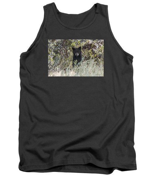 Bear Cub Looking For Mom Tank Top by Stephen  Johnson