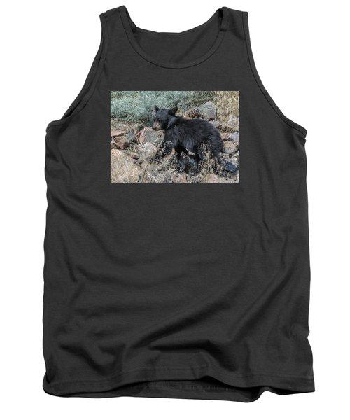 Bear Cub Walking Tank Top by Stephen  Johnson
