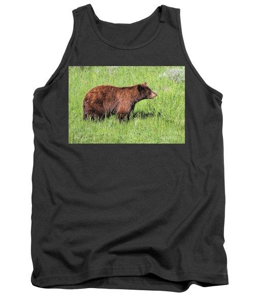 Bear Eating Daisies Tank Top
