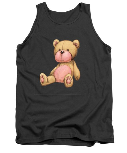 Bear Pink Tank Top by Andy Catling