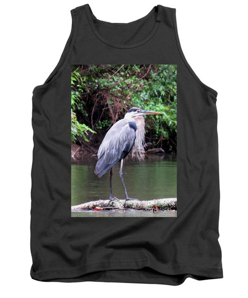 Bearded Blue Heron Tank Top