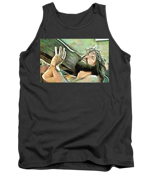Bearing The Cross Tank Top by Wayne Pascall