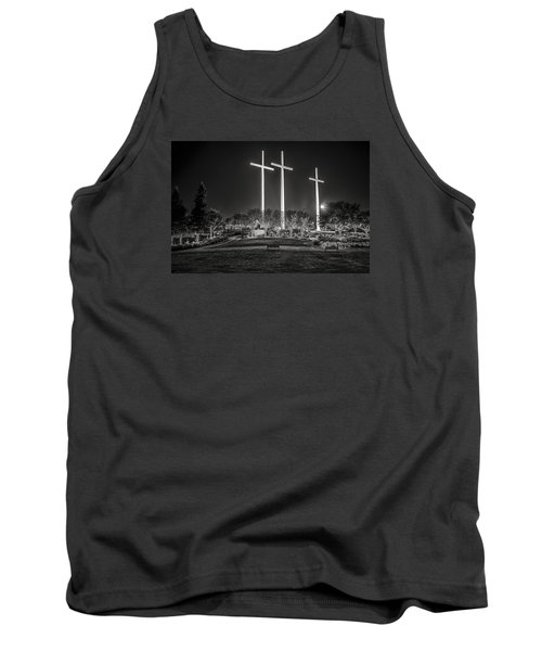 Bearing Witness In Black-and-white 2 Tank Top by Andy Crawford