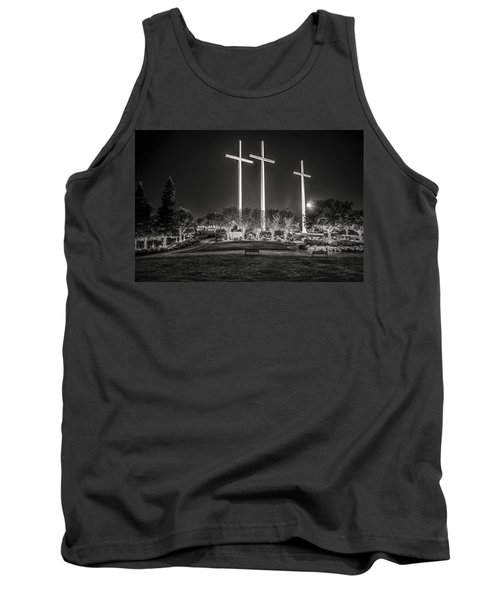 Bearing Witness In Black-and-white Tank Top by Andy Crawford