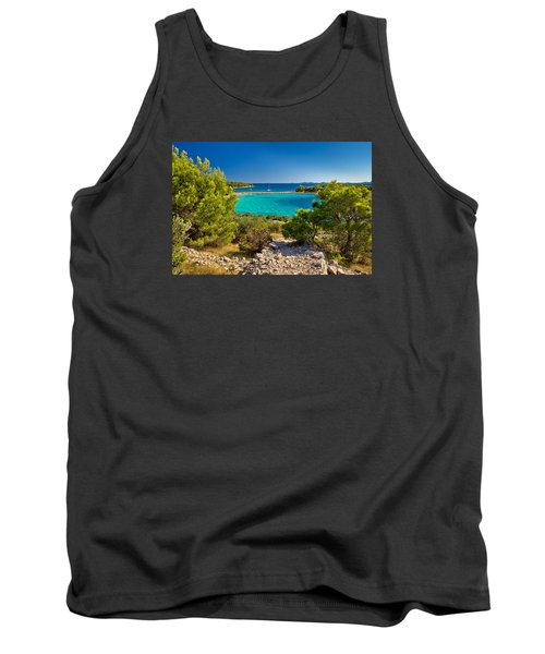 Beautiful Emerald Beach On Murter Island Tank Top by Brch Photography