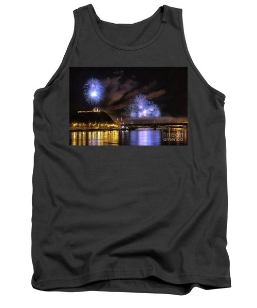Beautiful Fireworks In Budapest Hungary Tank Top