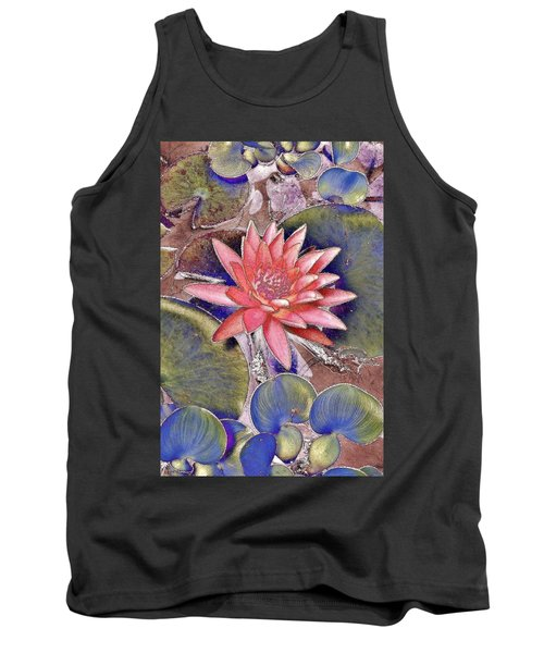 Beautiful Pink Lotus Abstract Tank Top