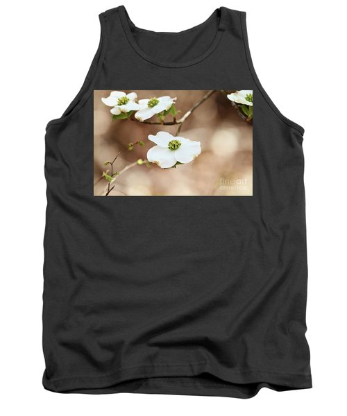Beautiful White Flowering Dogwood Blossoms Tank Top