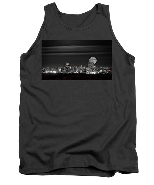 Beaver Moonrise In B And W Tank Top by Kristal Kraft