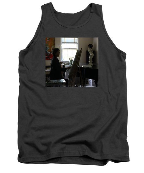 Becky Painting Chopin Tank Top by Becky Kim