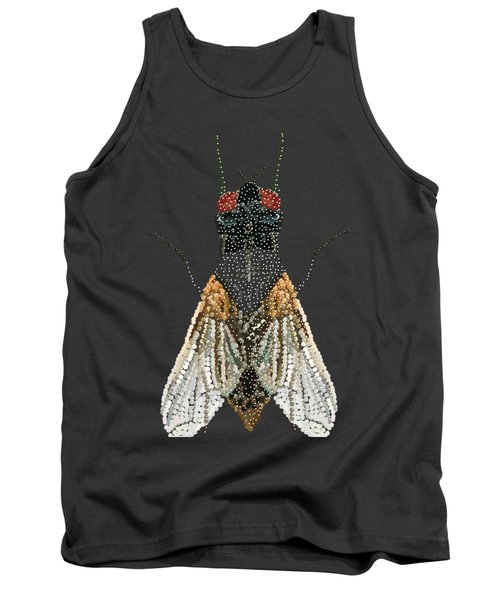 Bedazzled Housefly Transparent Background Tank Top by R  Allen Swezey