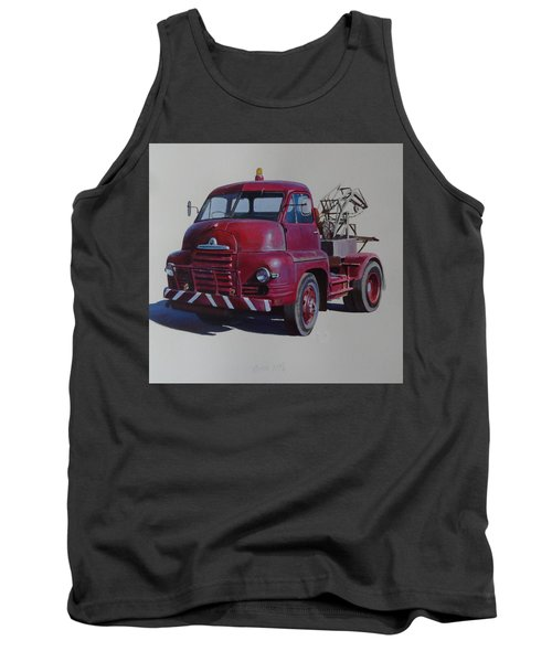 Tank Top featuring the painting Bedford S Type Wrecker. by Mike  Jeffries
