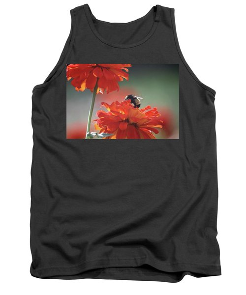 Tank Top featuring the photograph Bee And Flower I by Donna G Smith