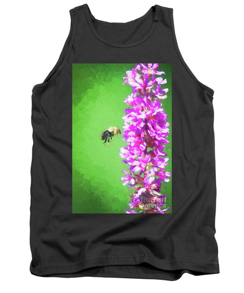 Bee Kissing A Flower Tank Top