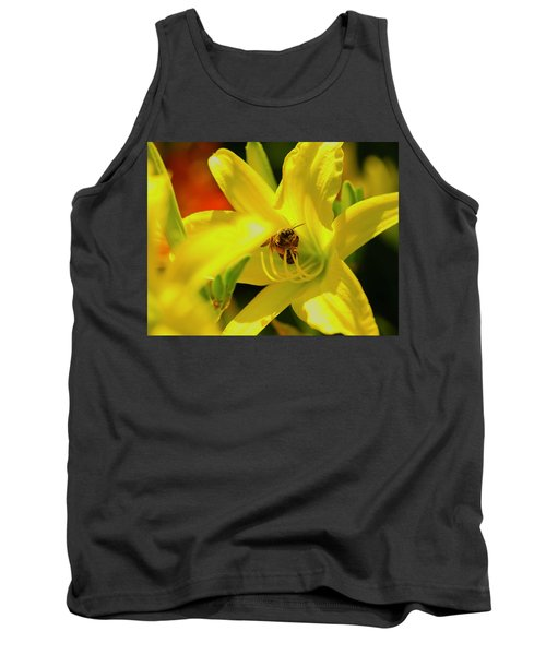 Bee On Yellow Lilly Tank Top