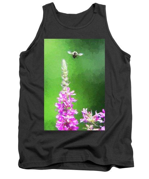 Bee Over Flowers Tank Top
