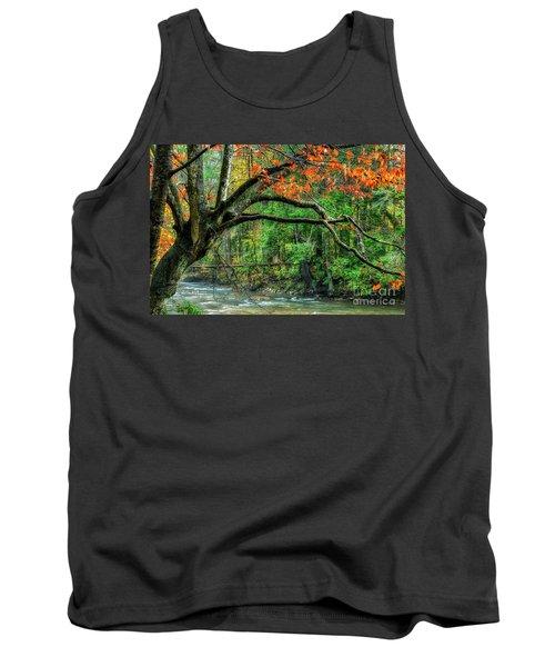 Beech Tree And Swinging Bridge Tank Top