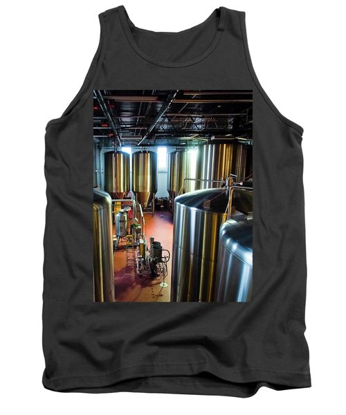 Tank Top featuring the photograph Beer Vats by Linda Unger