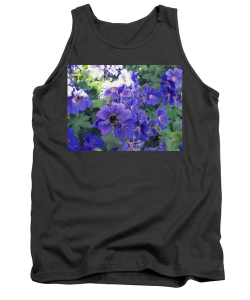 Bees And Flowers Tank Top