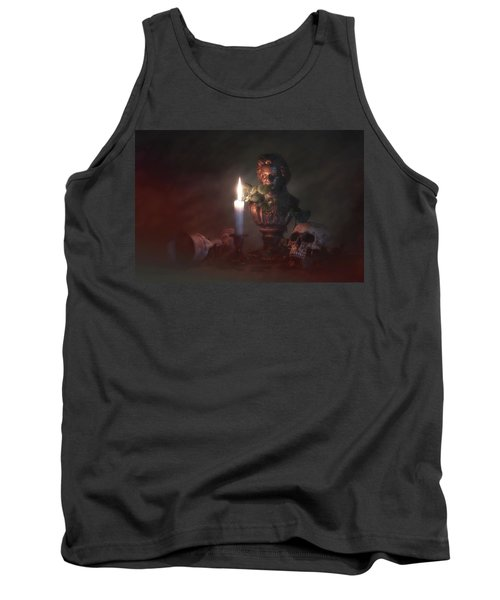 Tank Top featuring the photograph Beethoven By Candlelight by Tom Mc Nemar
