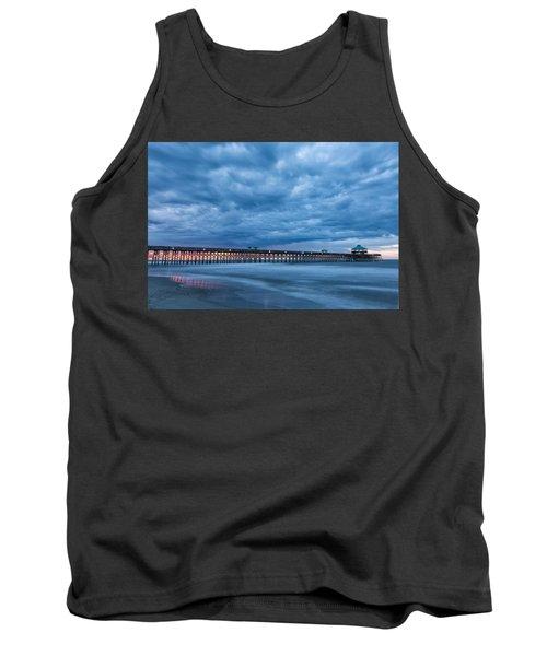 Before Sunrise At Folly Beach Pier, South Carolina Tank Top