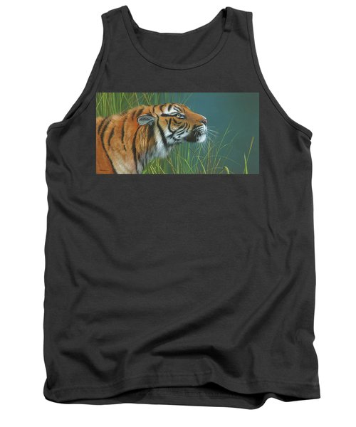 Tank Top featuring the painting Beggars Day by Mike Brown