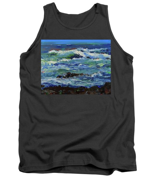 Tank Top featuring the painting Beginning Of A Storm by Walter Fahmy