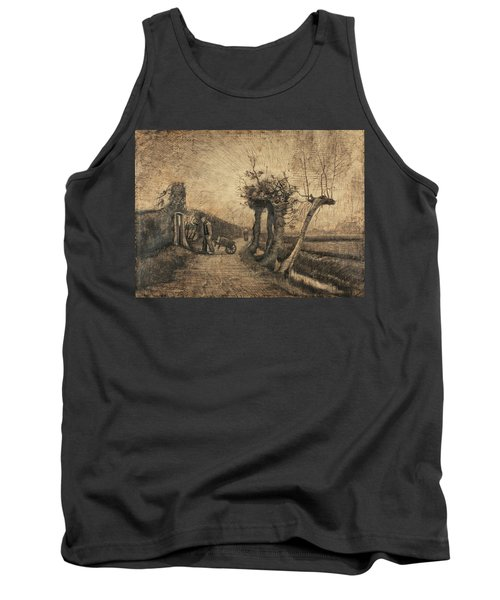 Behind The Hedges, 1884 Tank Top