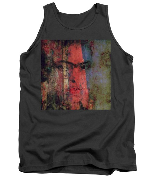 Tank Top featuring the painting Behind The Painted Smile by Paul Lovering