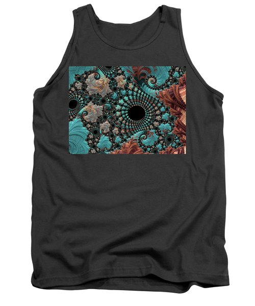 Tank Top featuring the digital art Bejeweled Fractal by Bonnie Bruno