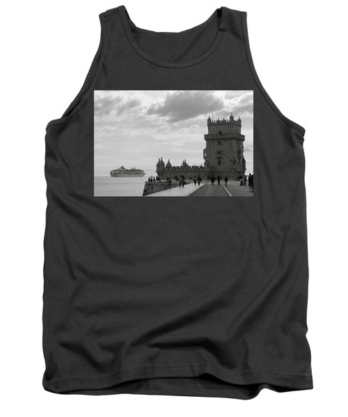 Tank Top featuring the photograph Belem And The Boat by Lorraine Devon Wilke