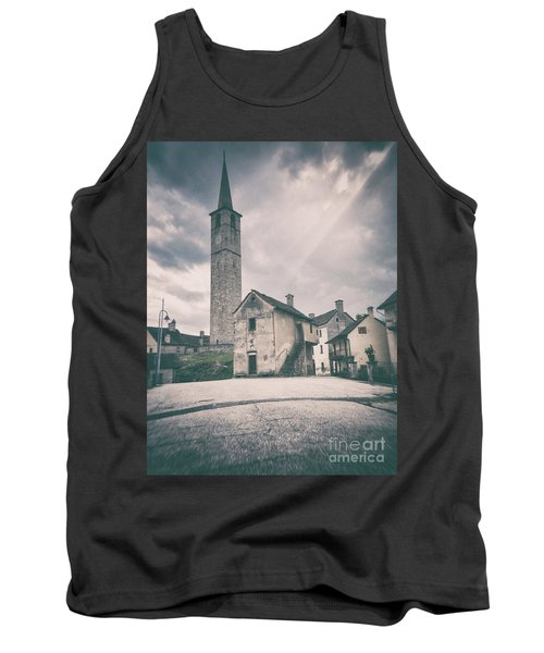 Tank Top featuring the photograph Bell Tower In Italian Village by Silvia Ganora