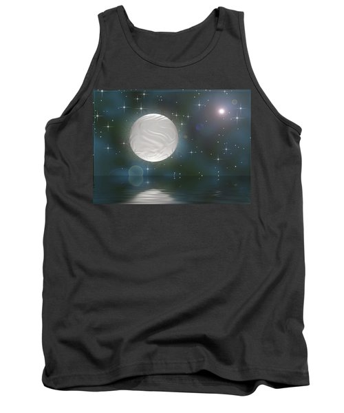 Tank Top featuring the digital art Bella Luna by Wendy J St Christopher