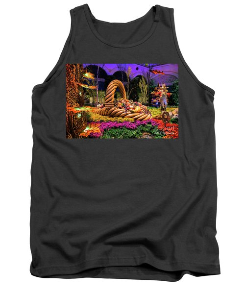 Bellagio Harvest Show Basket And Scarecrow 2016 Tank Top by Aloha Art