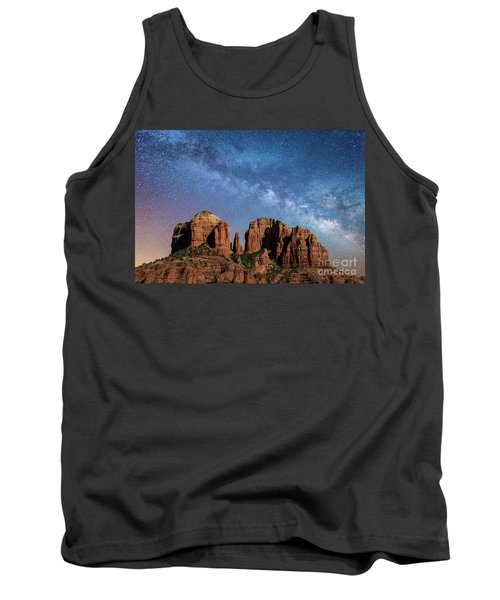 Below The Milky Way At Cathedral Rock Tank Top