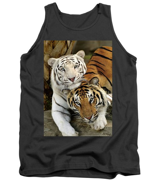 Bengal Tigers At Play Tank Top