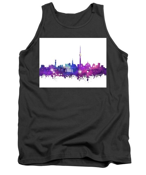 Berlin City Skyline Galaxy Tank Top by Bekim Art