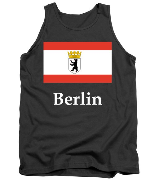 Berlin, Germany Flag And Name Tank Top by Frederick Holiday