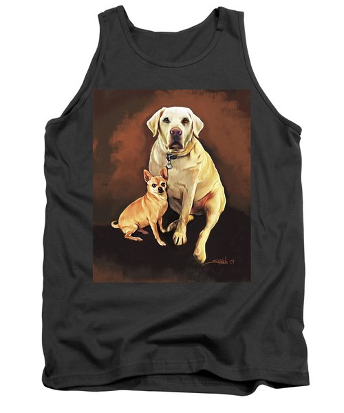 Best Friends By Spano Tank Top by Michael Spano