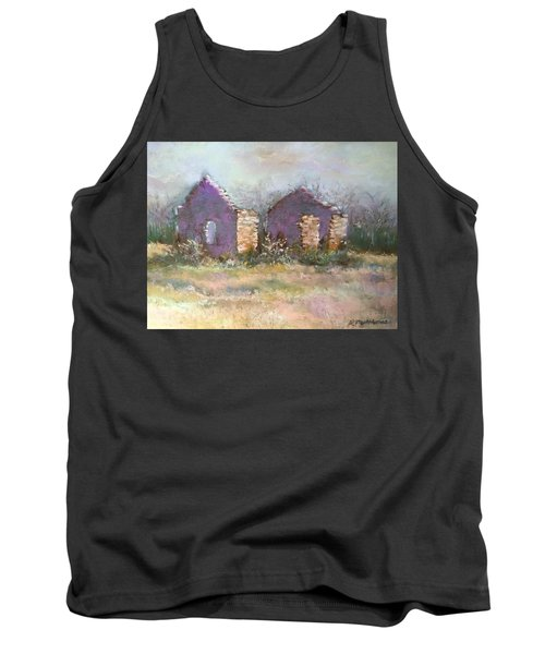 Tank Top featuring the pastel Bethel School At Sunset by Rebecca Matthews