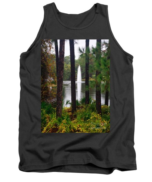 Tank Top featuring the photograph Between The Fountain by Lori Mellen-Pagliaro