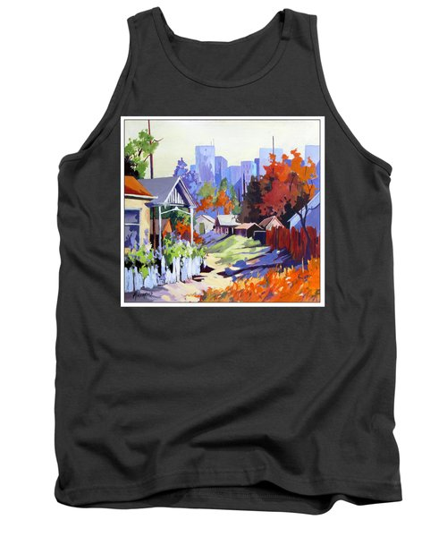 Tank Top featuring the painting Beyond The City Limits by Rae Andrews