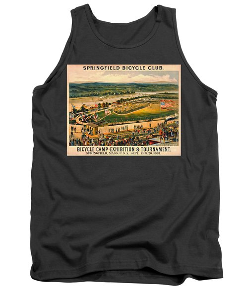 Tank Top featuring the photograph Bicycle Camp 1883 by Padre Art