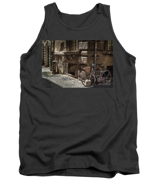 Bicycle In Rome, Italy Tank Top