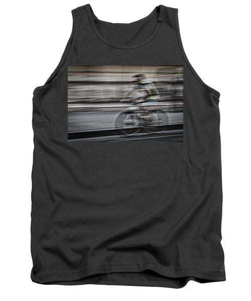 Bicycle Rider Abstract Tank Top