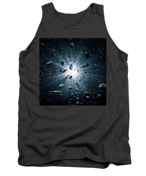 Big Bang Explosion In Space Tank Top