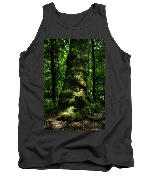 Big Moody Tree In Forest Tank Top