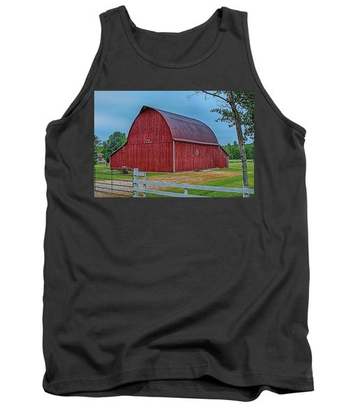 Tank Top featuring the photograph Big Red Barn At Cross Village by Bill Gallagher