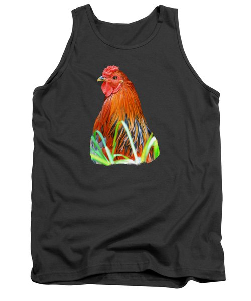Big Red The Rooster Tank Top by Pamela Walton