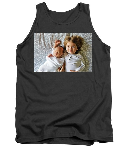 Tank Top featuring the painting Big Sister by Harry Warrick